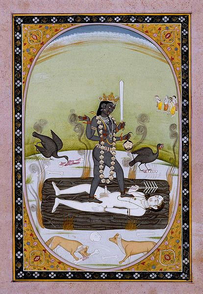 Kali_1800-1825_Kangra._The_Walters_Art_Museum.